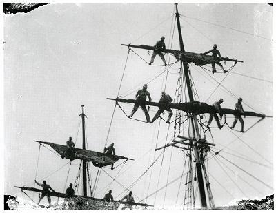 鳥羽商船学校生徒の訓練
