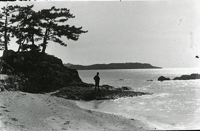 鳥羽市安楽島町前の浜「恵比須堂(エベンドロ)の景観