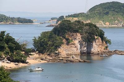 鳥羽国際ホテルから見た鳥羽三ツ島の風景